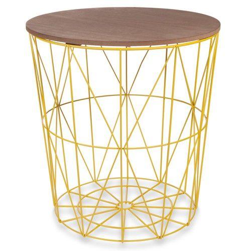 Beistelltisch metall gelb  Beistelltisch aus Metall gelb D 40 cm ZIGZAG | IN THE OFFICE ...