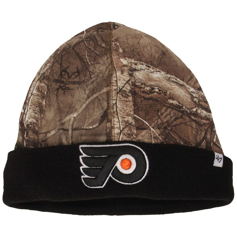 the best attitude faa47 8285c Philadelphia Flyers  47 Real Tree Foxden Cuffed Knit Hat - Camo Black