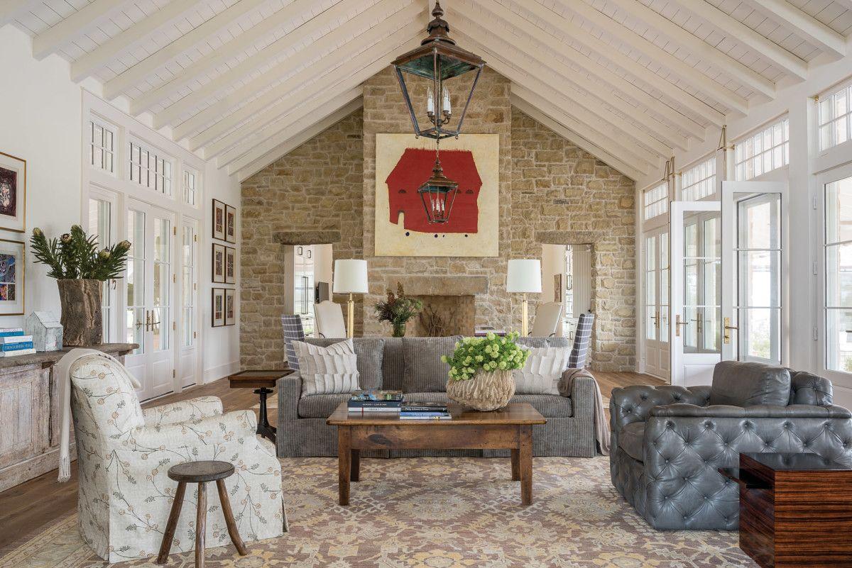 A Ranch Style Farmhouse In Texas Family Room Design Texas
