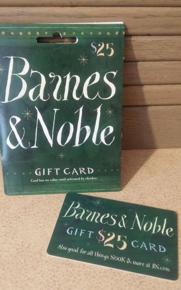 Barnes And Noble 25 Twenty Five Dollar Gift Card New