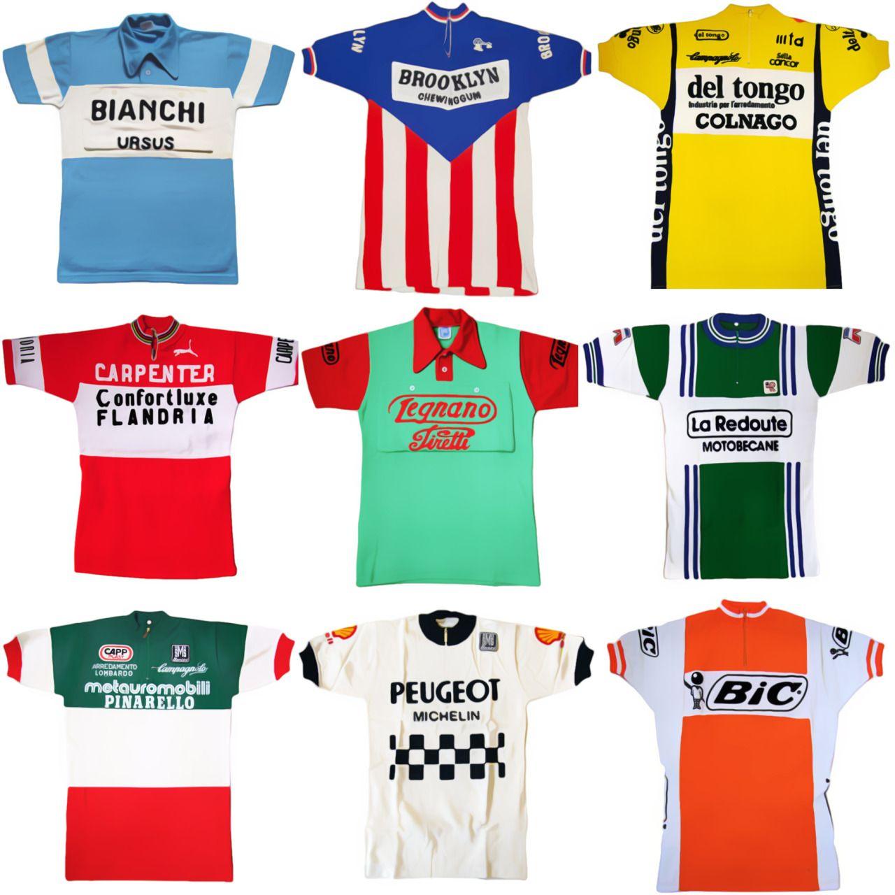 Classic vintage cycling jerseys. Bianchi Ursus 04da8e6a8