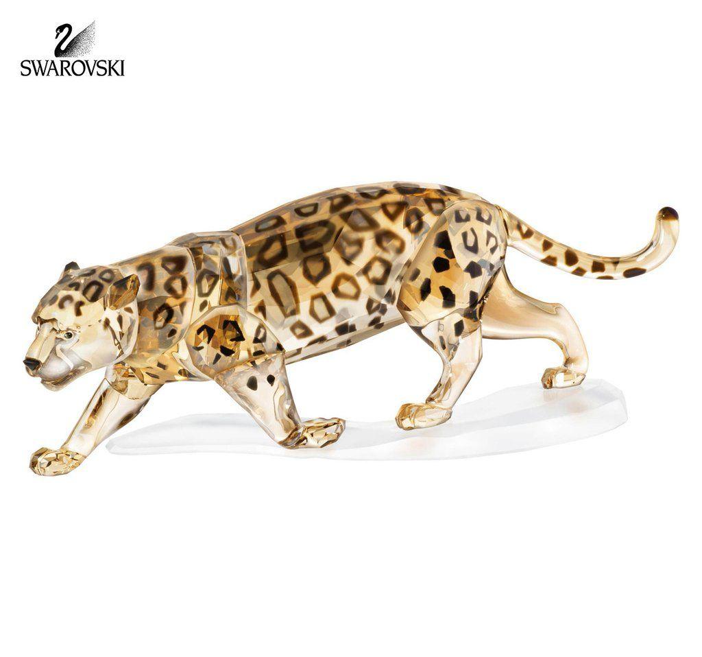Swarovski Golden Crystal Figurine JAGUAR Wildlife Safari #1096796 New