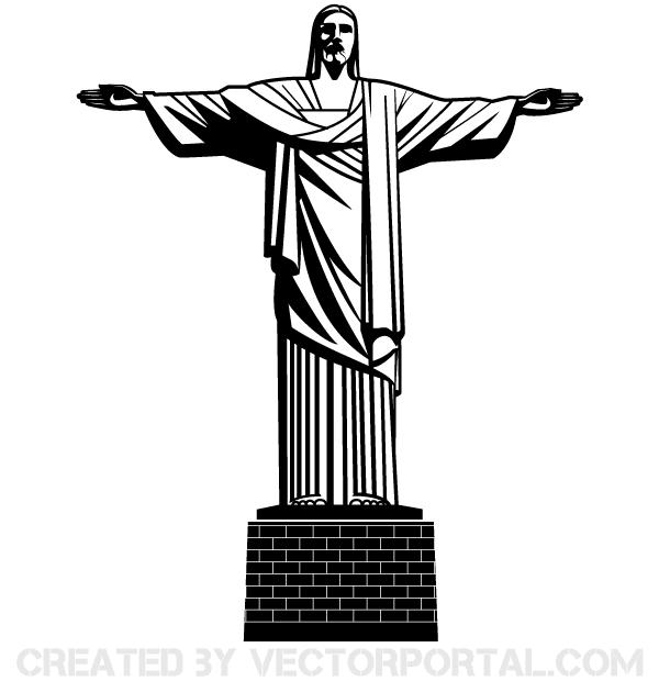 Jesus Christ Statue Vector Cristo Redentor Desenho Cristo