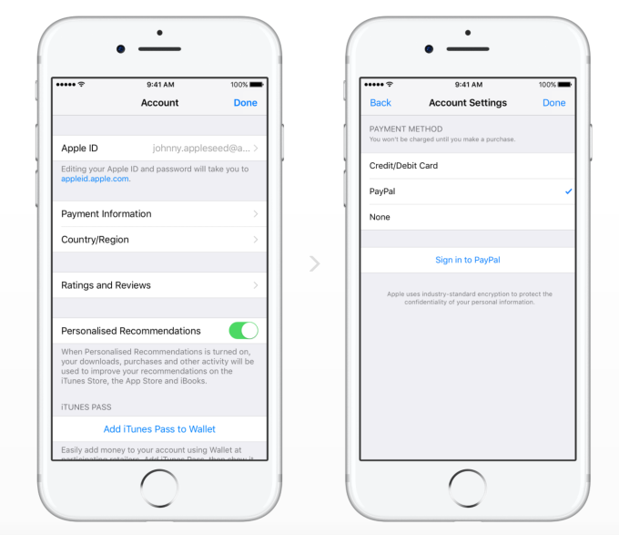 PayPal expands Apple integration, will become a payment option in 11