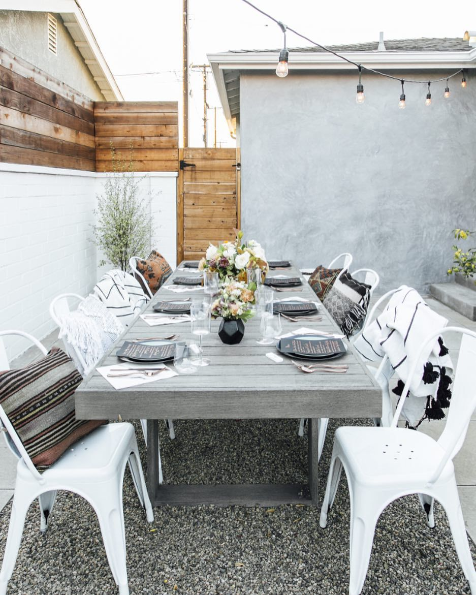 A modern and simple outdoor friendsgiving in southern california styled and designed by beijos events easy to recreate at your own home