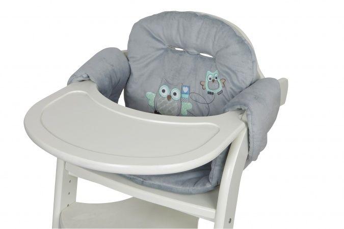 Tiamo Kinderstoel Prenatal.Tiamo Stoelverkleiner Familie Uil Grijs Stof Nursery