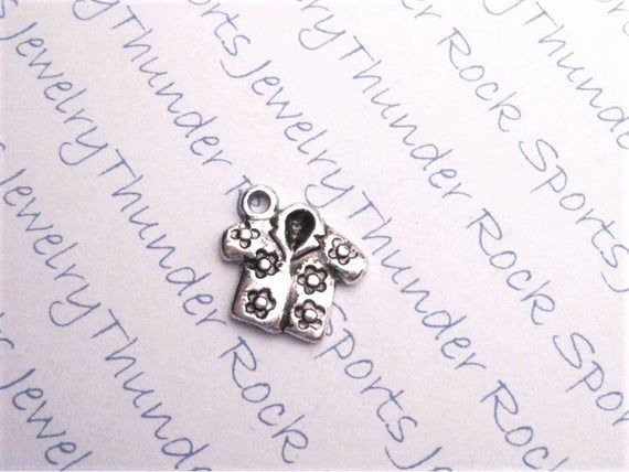 15, SHIRT, CHARMS, flowers, beach, fashion, vacation, clothing, antique, silver, bulk, PENDANTS #beachvacationclothes