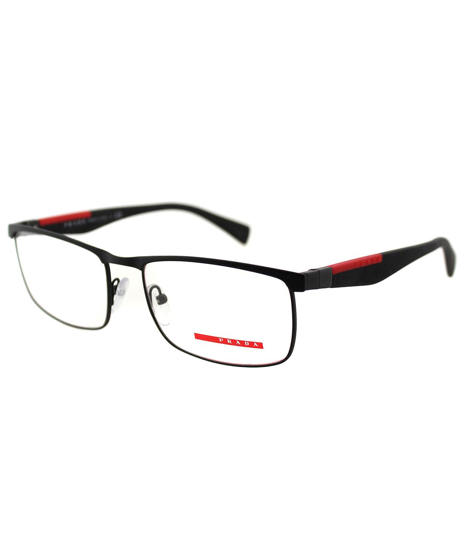 4b9a4cafeaf PRADA LINEA ROSSA RECTANGLE METAL EYEGLASSES .  prada  sunglasses ...