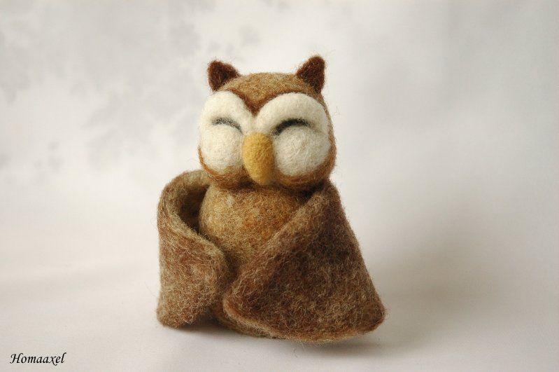Felt toy owl obnimashki - Fair Masters