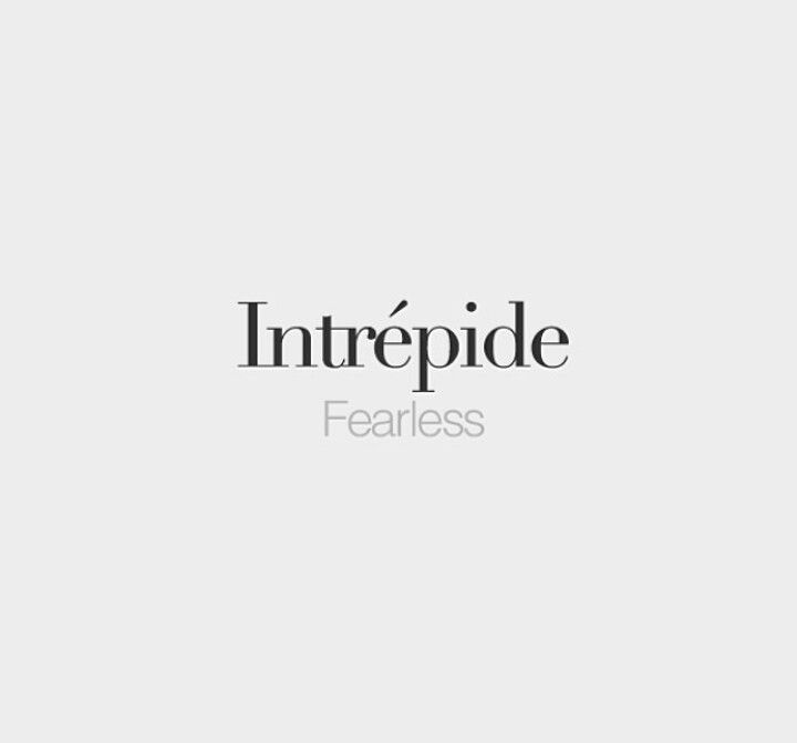 Intrepid Fearless French Quotes French Words 40th Quote