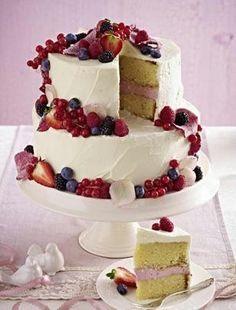 Hochzeitstorte Mit Beeren Topping Rezept Pinterest Wedding Cake