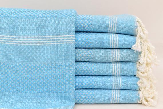 Turkey Towel, Light Blue Towel, Turkish Towel, Towel, Handwoven Towel, Picnic Towel, Fitness Towel,...