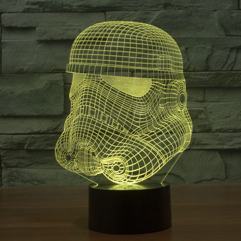 Star Wars Stromtrooper Led Light Up 3d Effect Led Gradient Visual Light 3d Led Night Light 3d Led Lamp Star Wars Night Light