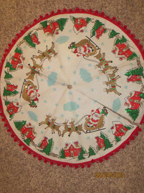 Handmade Christmas Tree Skirt Christmas by