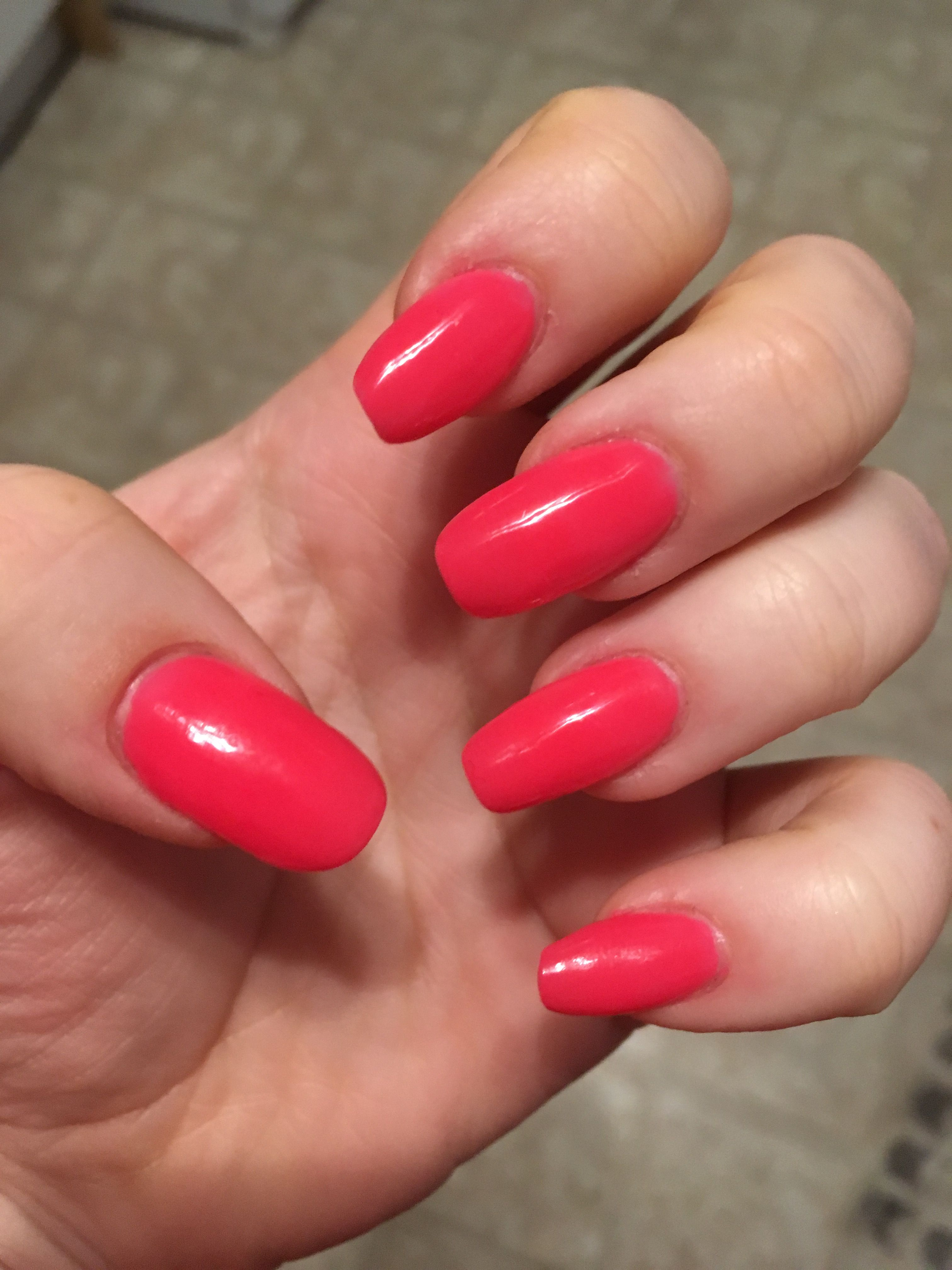 Asp Quot Passionate Pink Quot From The Asp Color Acrylic Quick Dip Kit A Bright Coral Y Pink I Don T