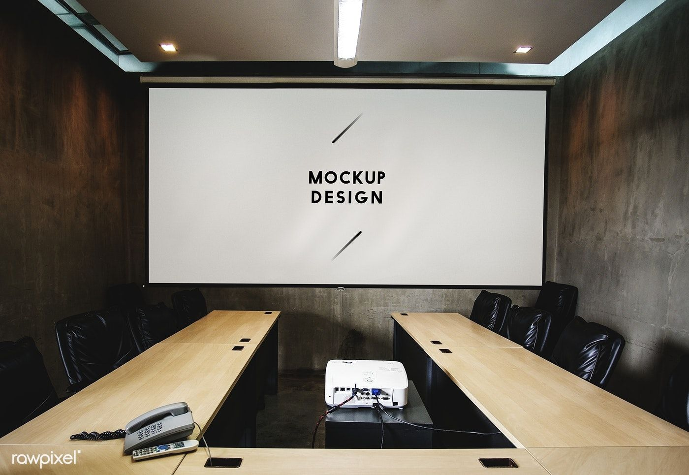 Blank White Projector Screen Mockup In A Meeting Room Free Image By Rawpixel Com Teddy Rawpixel Meeting Room Dining Room Small Conference Room Projector