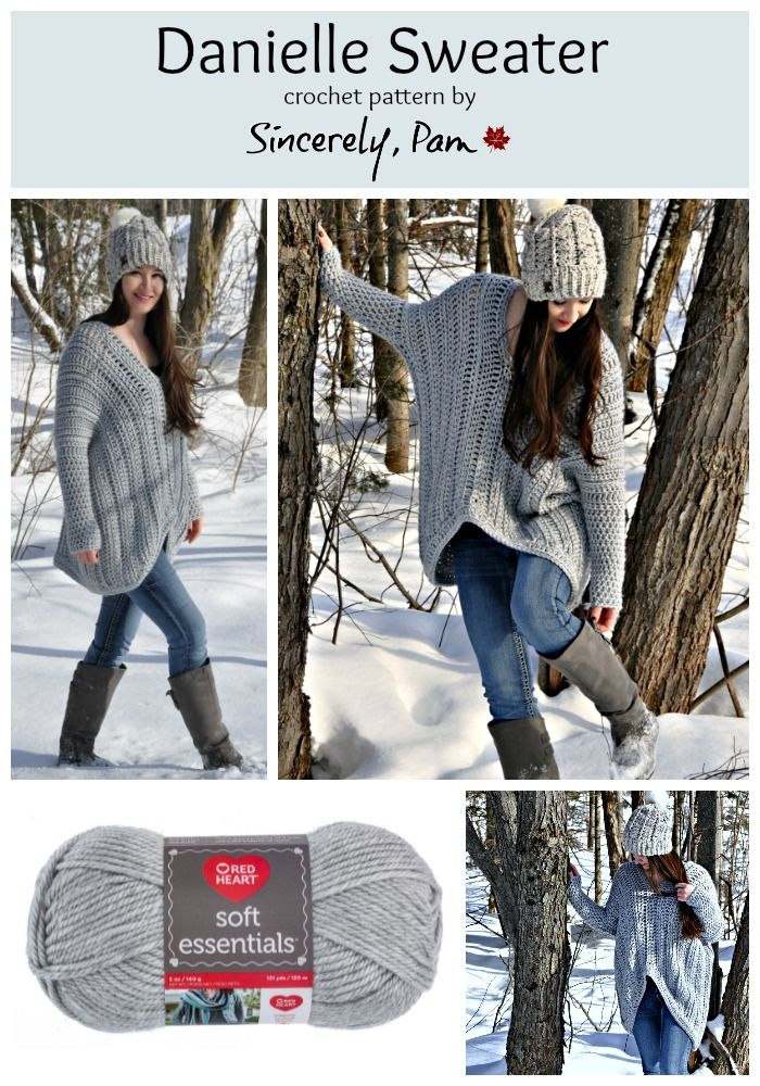 Danielle Sweater Pattern By Sincerely Pam Crochet Patterns And