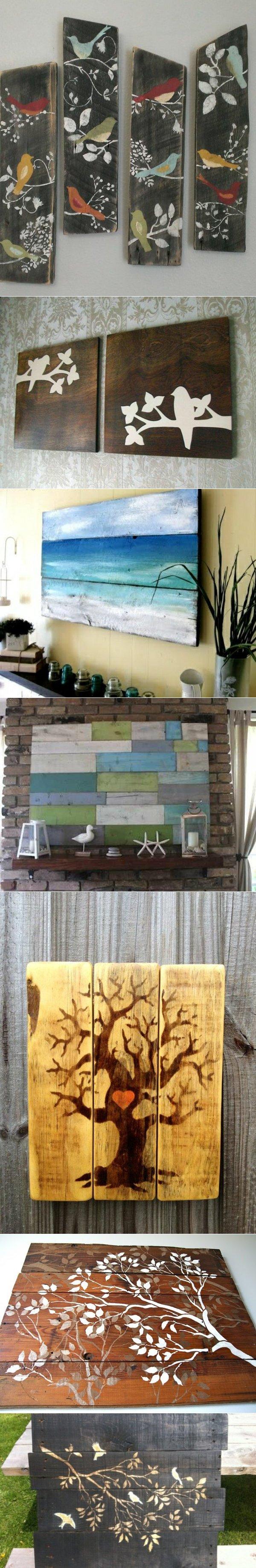 Painted wood wall art buone idee pinterest wood wall art