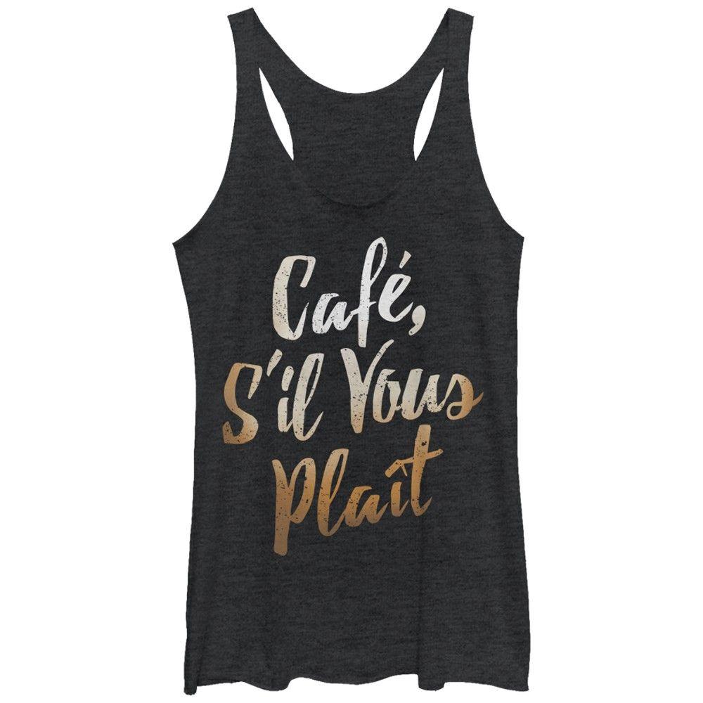 CHIN UP Women's - Cafe S'il Vous Plait Racerback Tank