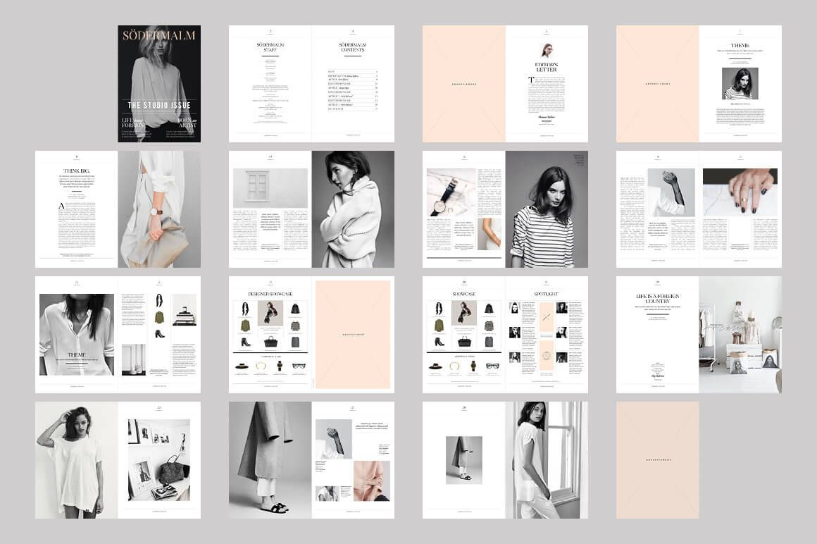 20 premium magazine templates for