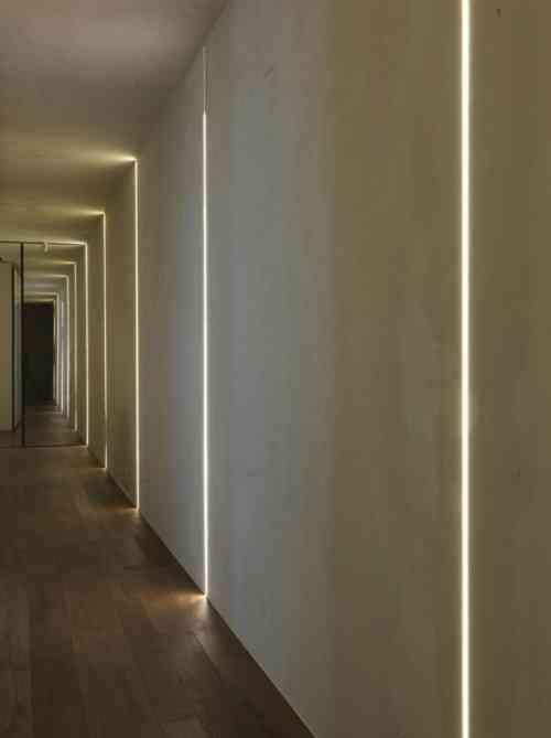 Bande led pour clairage int rieur moderne joli et for Luminaire design entree