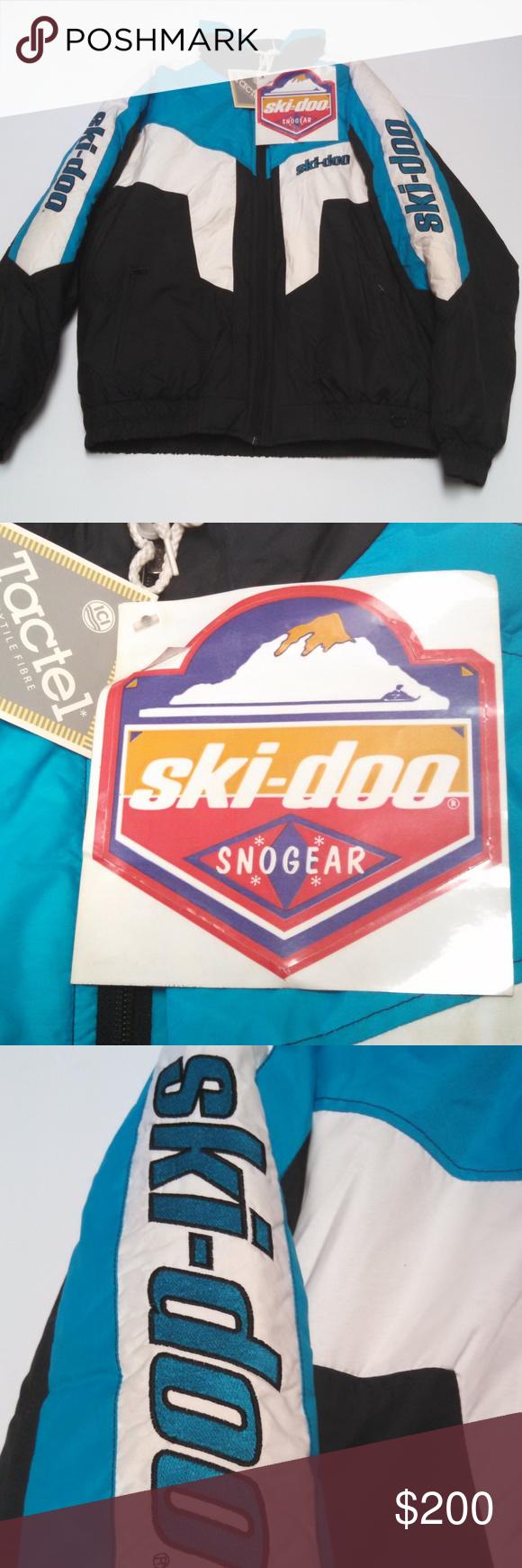 Ski Doo Snowmobile Jacket Large New Old Stock Men S Vintage Ski Doo Bombardier Jacket Large Snowmobile Coat Veste Catskill Full Zip Co My Posh Picks Fashi