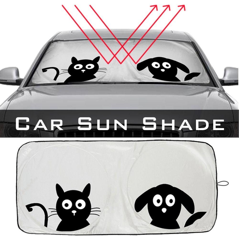 Front Cartoon Car Window Sunshade Universal Folding Jumbo Auto Sun Visor Windshield Block Cover Car Cartoon Car Window Car