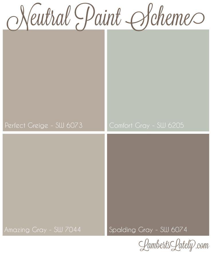 Neutral Paint Scheme Perfect Greige Fort Gray