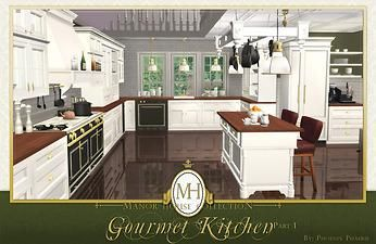 Mod The Sims Manor House Collection Gourmet Kitchen Pt I Ts2