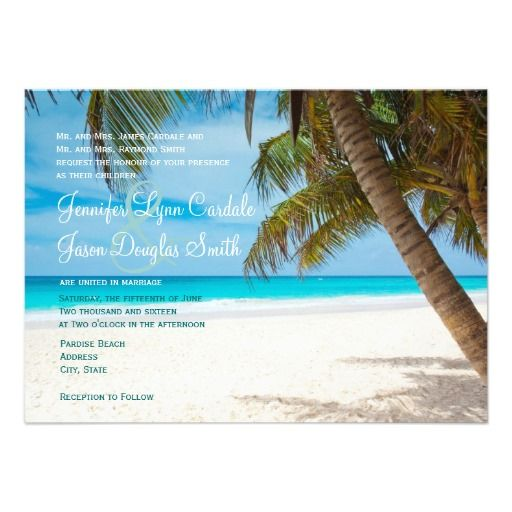 Discount DealsPalm Trees Beach Destination Wedding InvitationsThis site is will advise you where to buy