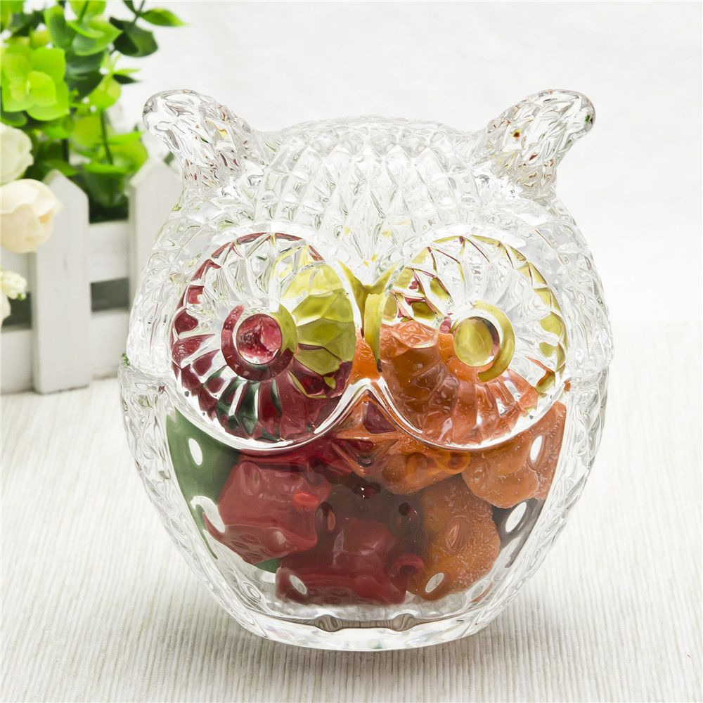 Owe Shape Glass Candy Jar