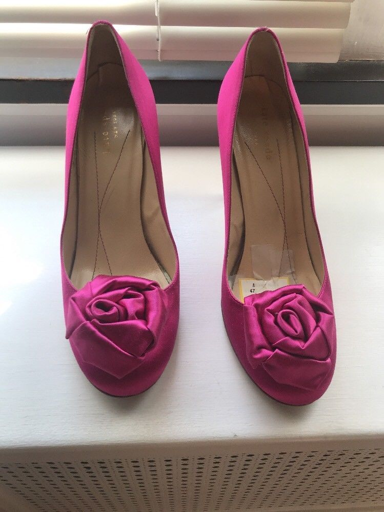 Kate Spade Womens Heels Shoes Hot Pink Rose 8.5 8 1 2 Fuchsia Gorgeous  Satin  fashion  clothing  shoes  accessories  womensshoes  heels  ad (ebay  link) db571a83dd