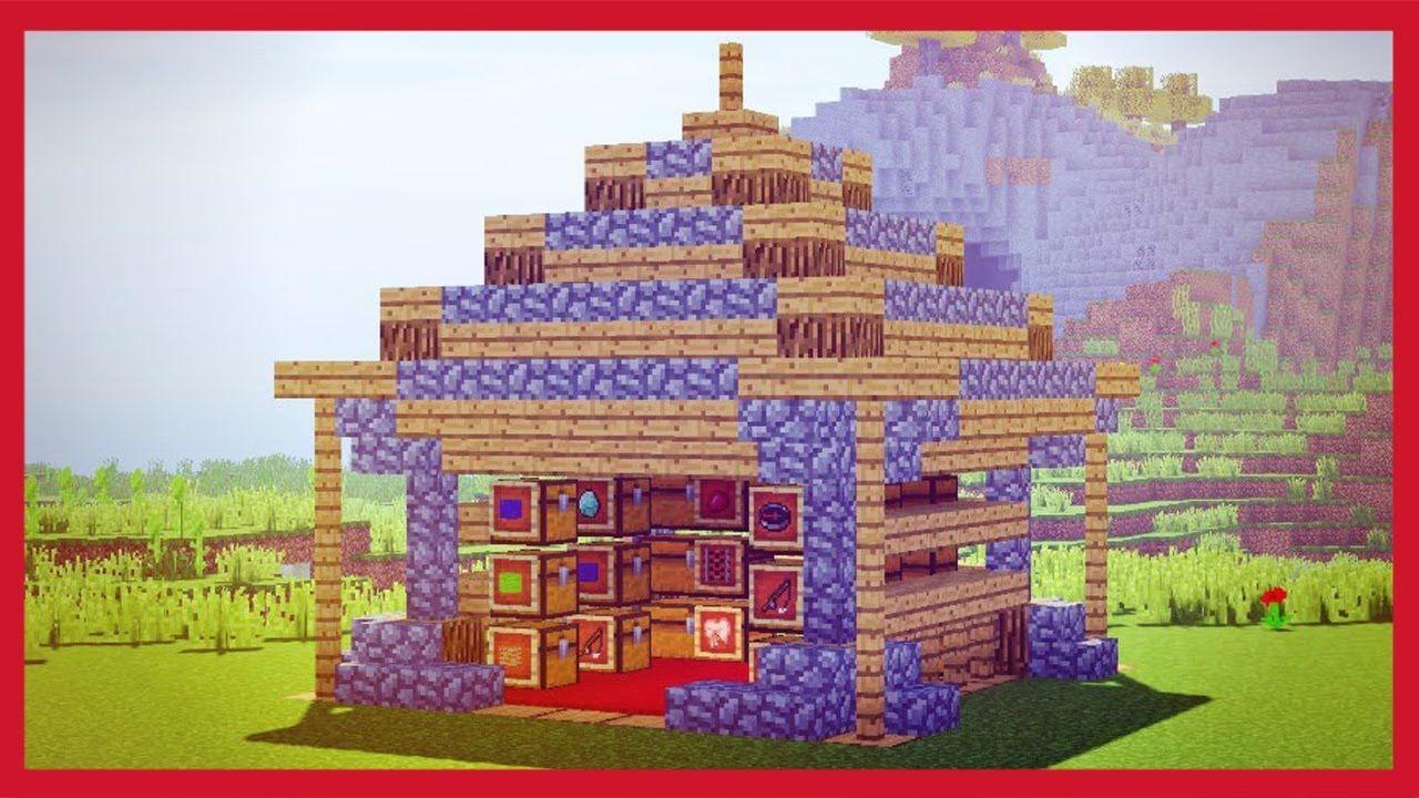 Come Fare Un Banco Di Lavoro Su Minecraft : Minecraft come fare un magazzino tutorial minecraft