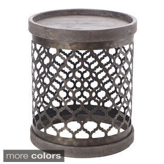 Nice Intelligent Design Cirque Reclaimed Quatrefoil Metal Drum Table    Overstock™ Shopping   Great Deals On ID Intelligent Designs Coffee, Sofa U0026 End  Tables