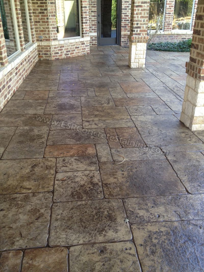 Stamped Concrete Overlay Pool Deck Frisco Tx4 Backyard