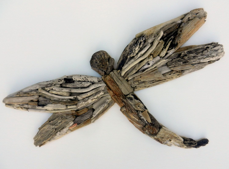Driftwood Dragonfly Wall Decor by Beachwooddreams on Etsy
