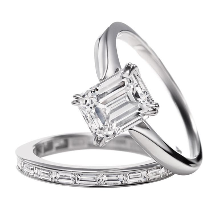 Harry Winston Emerald-Cut Solitaire. Perfect combination. This is my future ring!!!!❤