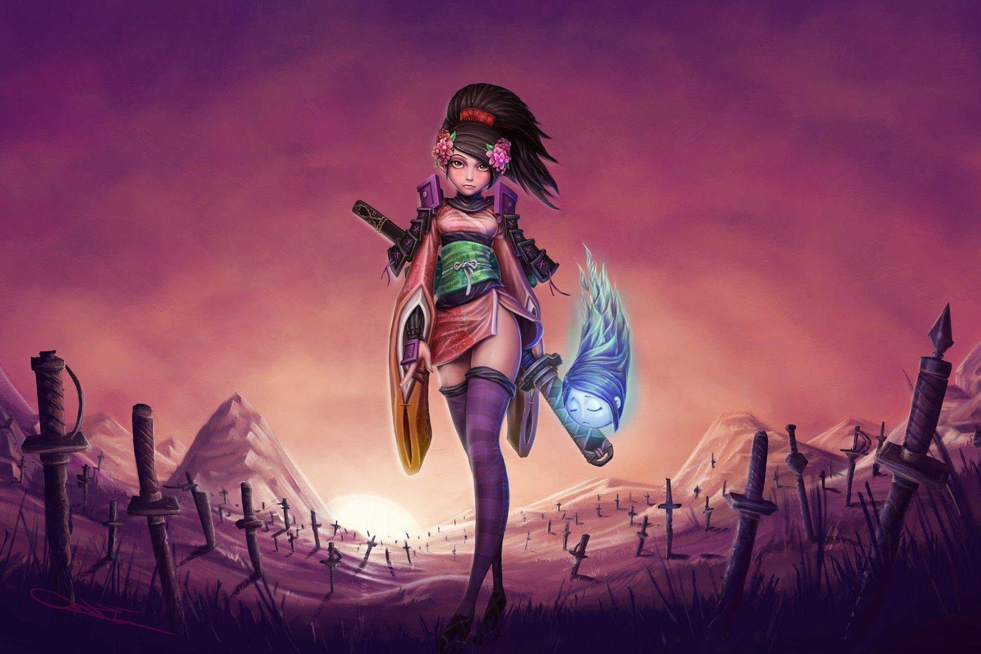 Artwork Fantasy Art Muramasa The Demon Blade Wallpaper