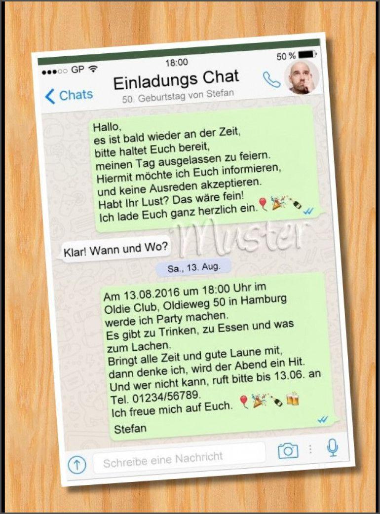 Einladung Geburtstag Whatsapp Einladung Geburtstag Einladung