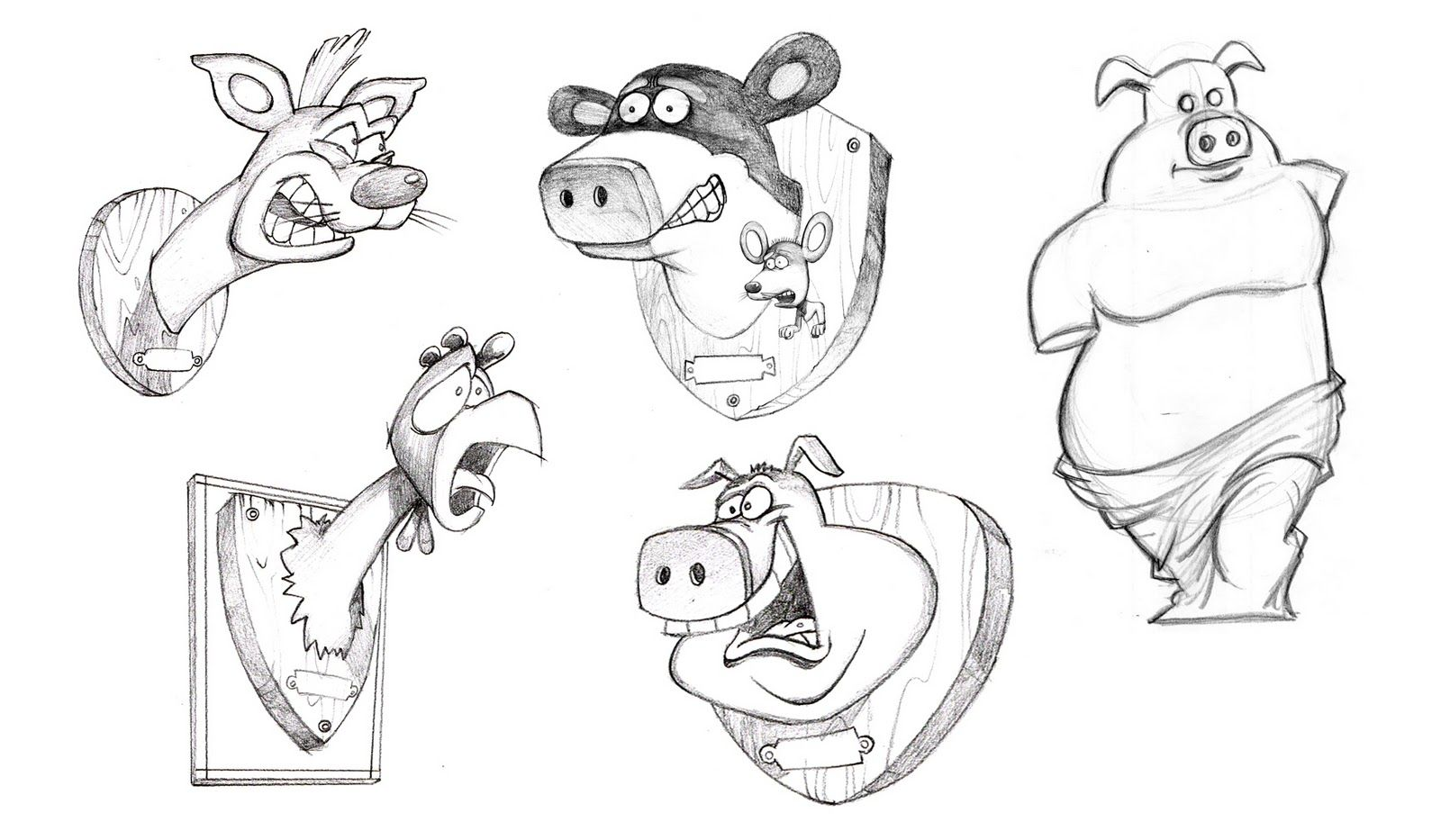 Back At The Barnyard Concept Sketch