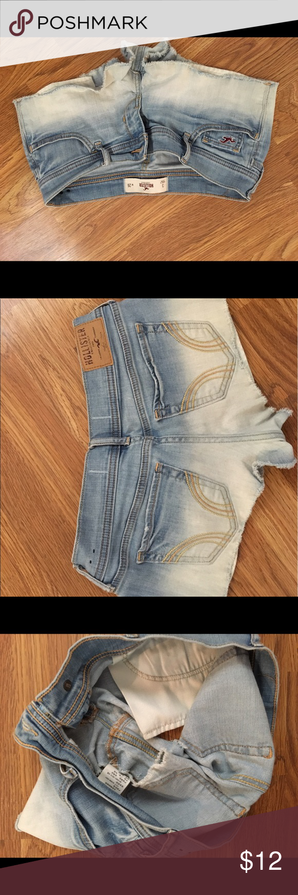 Hollister Jean Shorts Size 3 Like New Hollister Jean shorts. Size 3. No stains or sign of wear. Price is not firm :) Hollister Shorts Jean Shorts