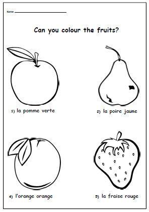 Kids Worksheet Colour Words French Learning Colouring French Etsy French Worksheets Learn French Worksheets For Kids