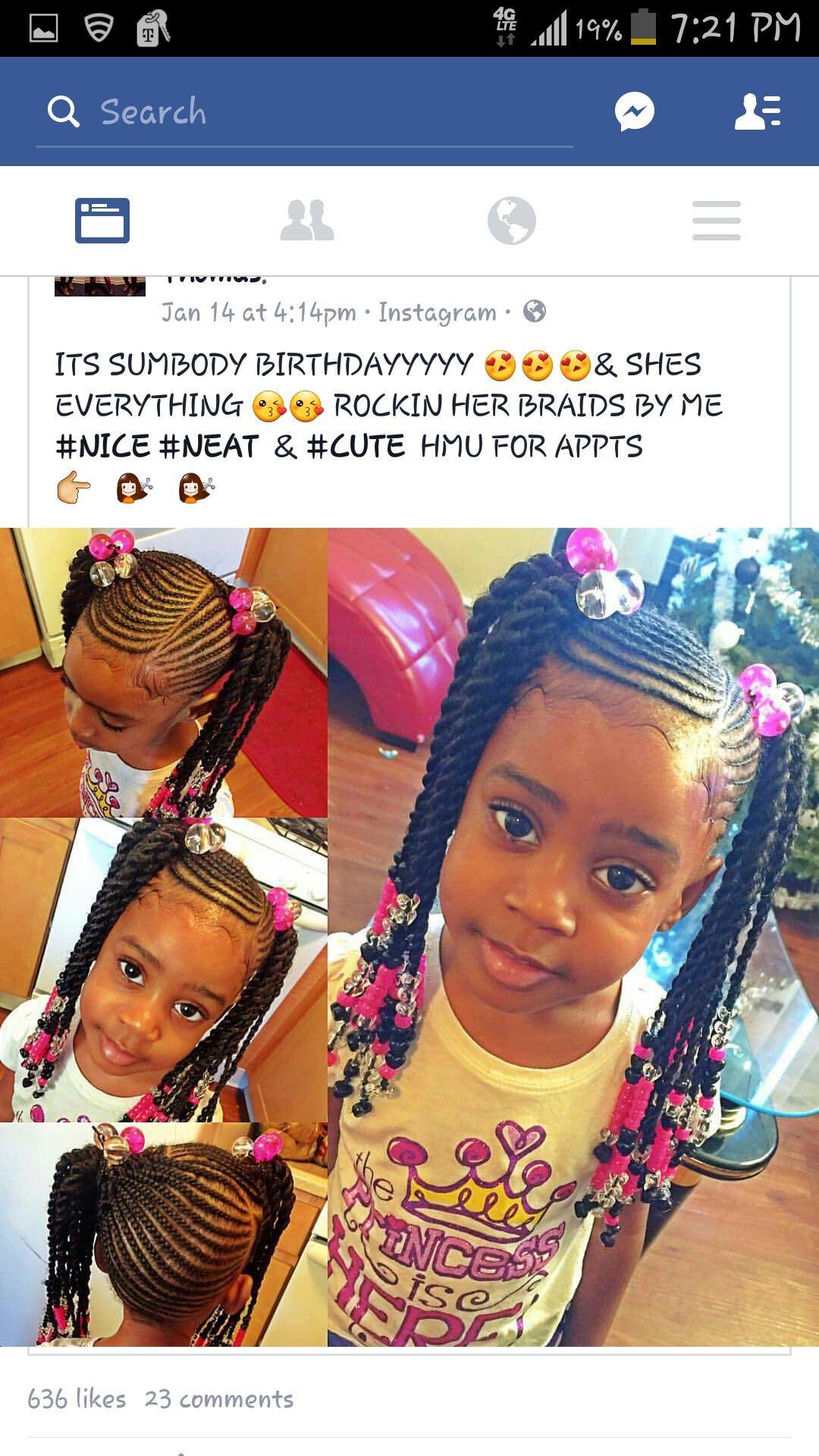 Pin by J Rich 💋 on Beauty! | Pinterest | Kid braid styles, Black ...