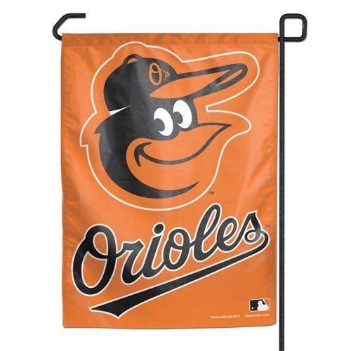 "Baltimore Orioles 11""x15"" Garden Flag - Gooney Bird, Orange with Text"