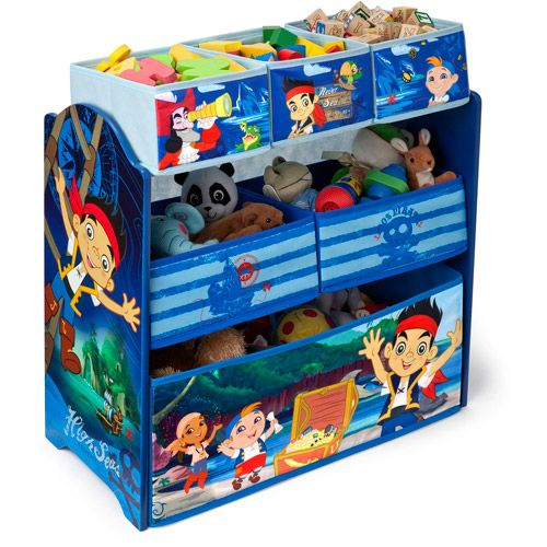 Disney Jake and the Never Land Pirates Multi-Bin Toy Organizer ...