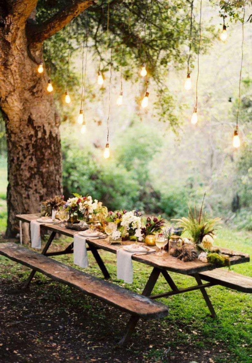 Wedding decoration ideas garden party   Very Romantic Backyard Wedding Decor Ideas in   Garden