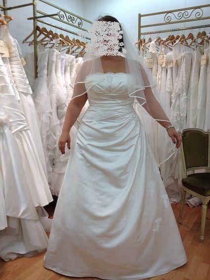 Robe de mariée ORLA ivoire grande taille