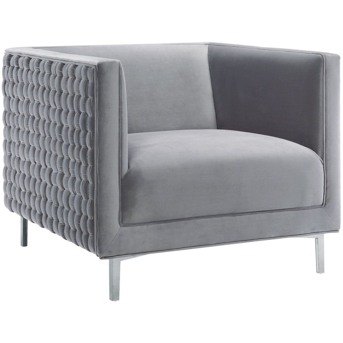 Best Candelabra Home Sal Woven Chair Grey With Images 400 x 300