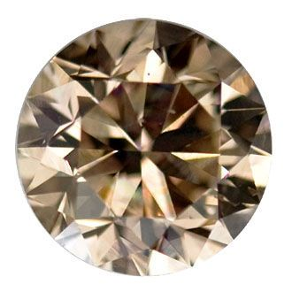 natural carat brilliant brown round fancy diamond loose dark
