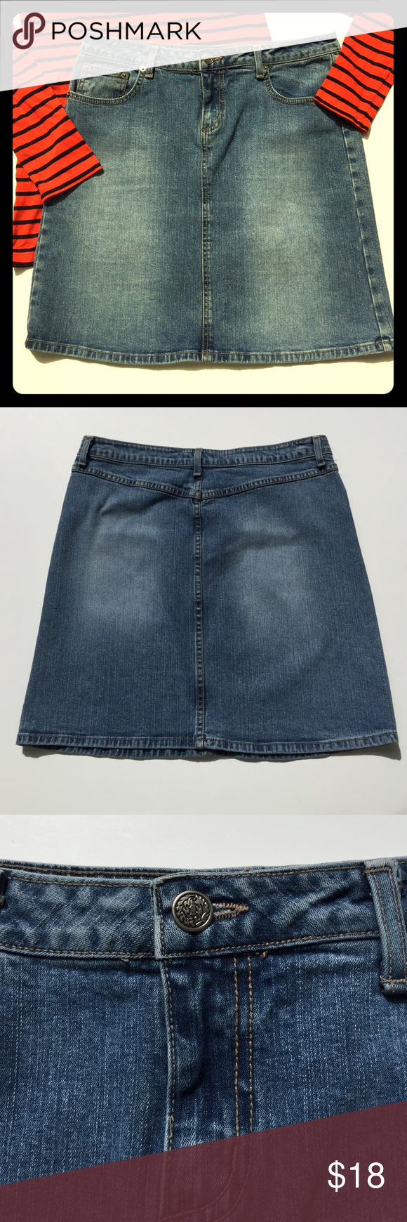 "Forever 21 Denim Skirt Great condition, basic denim mini skirt. Overall length 18"". Endless possibilities! Endless seasons! Forever 21 Skirts Mini"